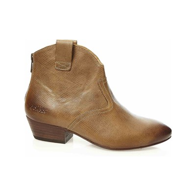 Kickers WESTERN BOOTS EN CUIR CAMEL Chaussure France_v7458