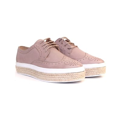 Carlton London DERBIES EN CUIR TAUPE Chaussure France_v10292