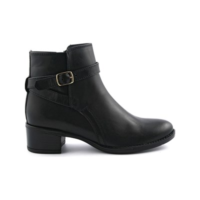 Exclusif Paris JUMP BOTTINES EN CUIR NOIR Chaussure France_v16152