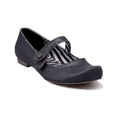 Irregular Choice BALLERINES EN CUIR NOIR