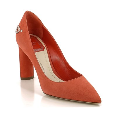 Dior ESCARPINS EN CUIR ORANGE