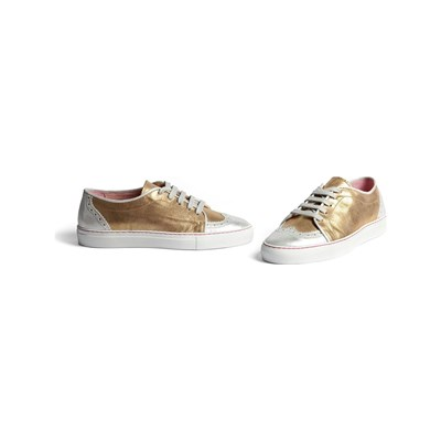 Annabel Winship POWER SNEAKERS EN DAIM BICOLORE Chaussure France_v18031