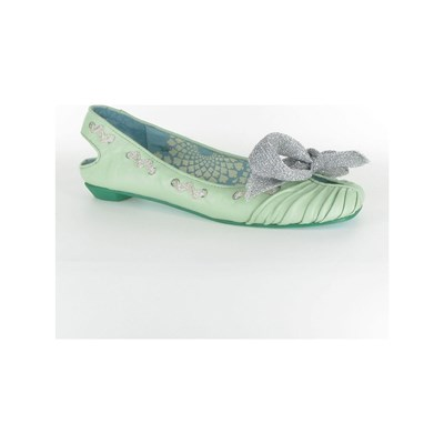 Irregular Choice BALLERINES EN CUIR VERT Chaussure France_v6117