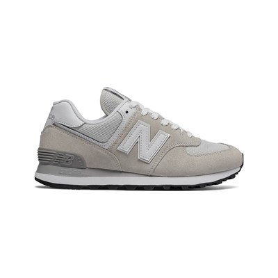New Balance WL574 BASKETS EN CUIR GRIS Chaussure France_v10869
