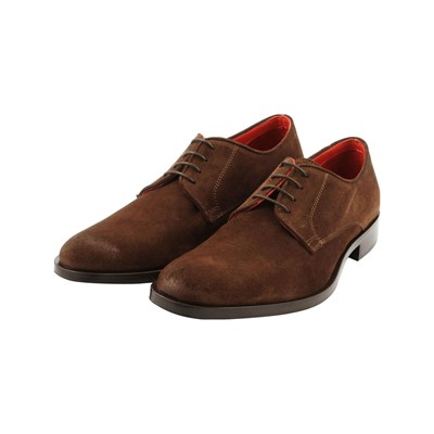 Exclusif Paris LUCIO DERBIES EN CUIR MARRON