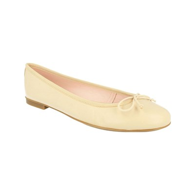 Costoso e fine Bisue BALLERINE IN PELLE CREMA