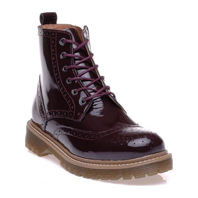 Bronx BOTTINES EN CUIR BORDEAUX