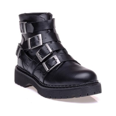 Bronx BOTTINES EN CUIR NOIR