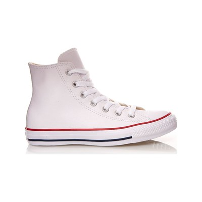Converse CHUCK TAYLOR ALL STAR HI SNEAKERS ALTE IN PELLE BIANCO