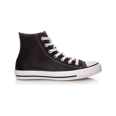 Converse CHUCK TAYLOR ALL STAR HI HIGH SNEAKERS AUS LEDER SCHWARZ