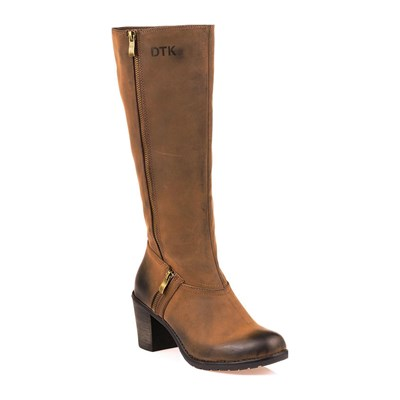 DTK BOOTS, BOTTINES MARRON