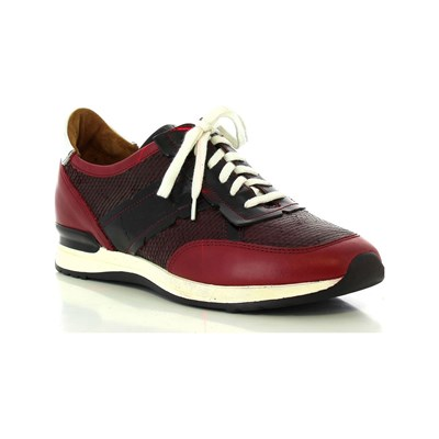 Elizabeth Stuart GAP 577 BASKETS EN CUIR BORDEAUX Chaussure France_v6545