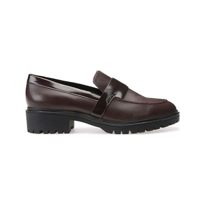 Geox PEACEFUL MOCASSINS EN CUIR BORDEAUX Chaussure France_v4332