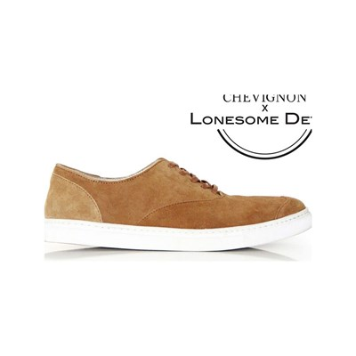 Lonesome Detail STEVE BASKETS COLLABORATION CHEVIGNON X LONESOME DETAIL CARAMEL Chaussure France_v14921