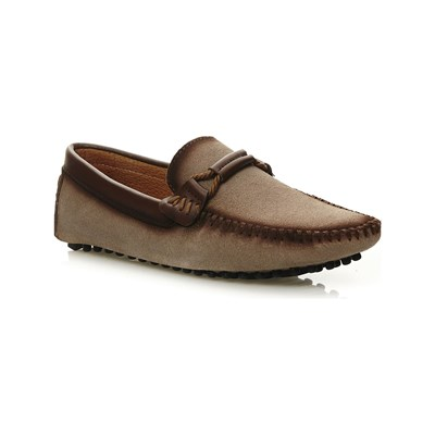 Uomo MOCASSINS EN CUIR SABLE