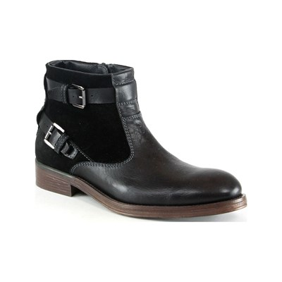 True Men Only BOOTS EN CUIR NOIR Chaussure France_v6406