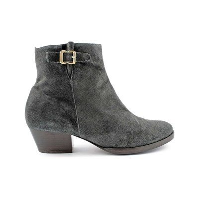 Exclusif Paris CARLY BOOTS EN CUIR GRIS Chaussure France_v16982