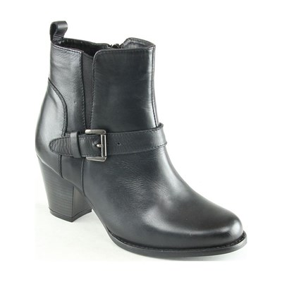 Manoukian EDEN BOTTINES EN CUIR NOIR Chaussure France_v9394