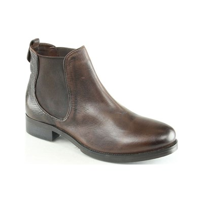 Manoukian MARGAUX BOTTINES EN CUIR BRUN Chaussure France_v8511