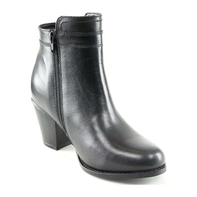 Manoukian LOUNA BOTTINES EN CUIR NOIR Chaussure France_v9403