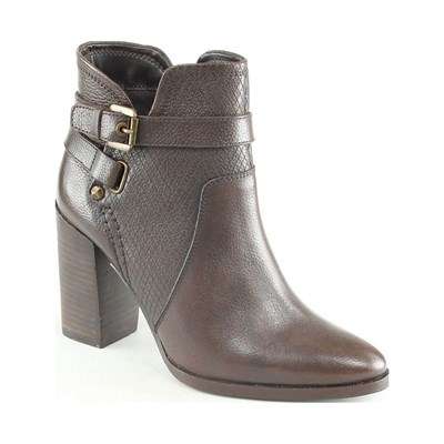 Manoukian CAMILLE BOTTINES EN CUIR BRUN Chaussure France_v10193