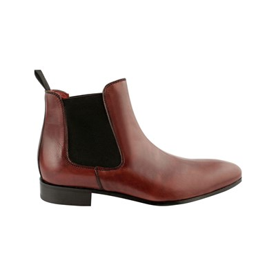 Exclusif Paris FATS BOOTS EN CUIR BORDEAUX