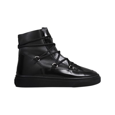 Hogan HIGH TOPS BASKETS EN CUIR NOIR Chaussure France_v18331
