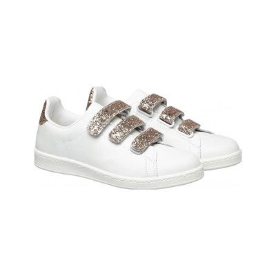 Naf Naf BASKETS EN CUIR BLANC Chaussure France_v8399