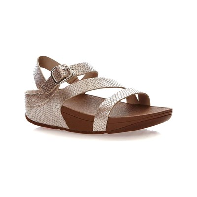 FitFlop THE SKINNY Z-CROSS SANDALS (SNAKE) SANDALEN SILBERFARBEN