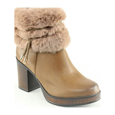 Forever Folie BOOTS, BOTTINES CAMEL Chaussure France_v4029
