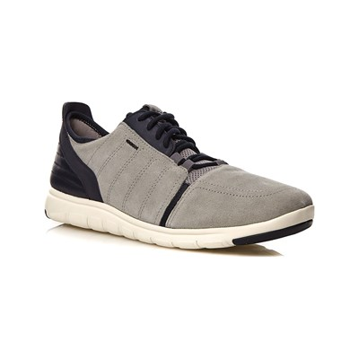 Geox XUNDAY BASKETS EN CUIR GRIS Chaussure France_v4386