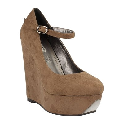 Chaussures Femme | 1TO3 COMPENSÉES EN CUIR TAUPE