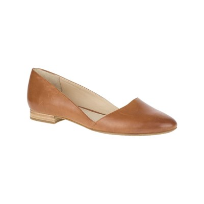 Hush Puppies JOVANNA BALLERINES EN CUIR CAMEL Chaussure France_v2886