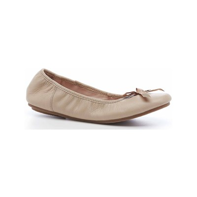 Hush Puppies LILAS BALLERINES EN CUIR BEIGE Chaussure France_v1836