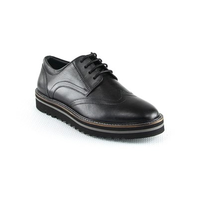 Manoukian DERBY IN PELLE NERO