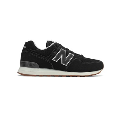 New Balance ML574 D SNACKERS IN PELLE BIMATERIALE NERO