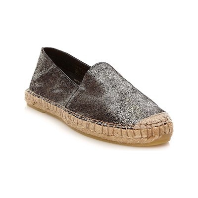 Pieces LEDER-ESPADRILLES GOLDFARBEN