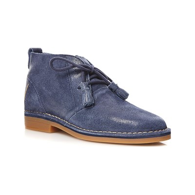 Hush Puppies CYRA BOTTILLONS EN CUIR BLEU MARINE Chaussure France_v4387