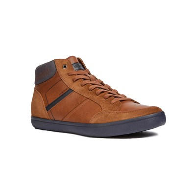 Geox U BOX E BASKETS MONTANTES MARRON CLAIR Chaussure France_v11455