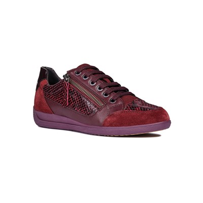 Geox D MYRIA A BASKETS BASSES BORDEAUX Chaussure France_v11444