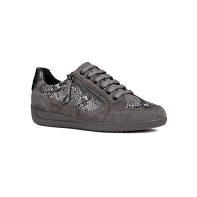 Geox D MYRIA A LOW SNEAKERS GRAU