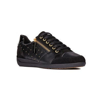 Geox MYRIA LOW SNEAKERS SCHWARZ