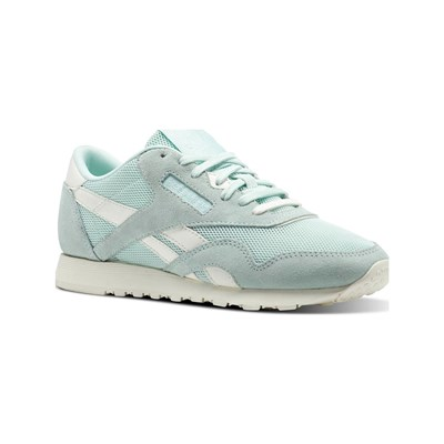 Reebok Classics CL NYLON MESH BASKETS EN CUIR TURQUOISE Chaussure France_v4291