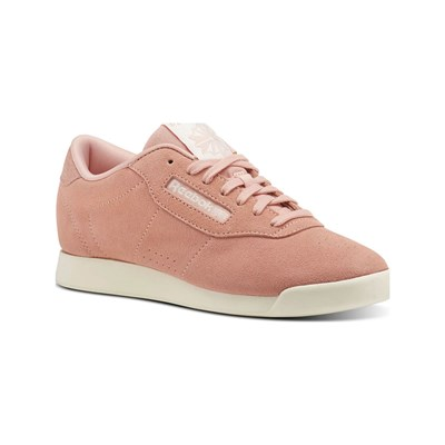 Reebok Classics PRINCESS WOVEN EMB BASKETS EN CUIR ROSE Chaussure France_v4375