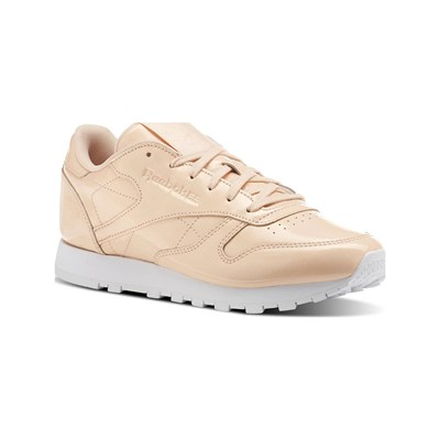 Reebok Classics CL LTHR PATENT BASKETS EN CUIR ROSE Chaussure France_v5313