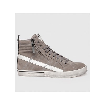 Diesel D-VELOWS SNEAKERS ALTE IN PELLE GRIGIO