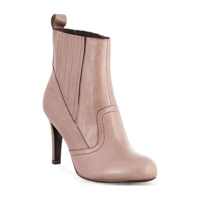 Kesslord NOW BOOTS, BOTTINES EN CUIR TAUPE