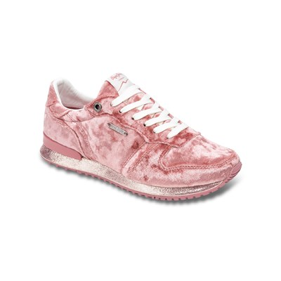 Pepe Jeans Footwear GABLE VELVET SNEAKERS ROSE