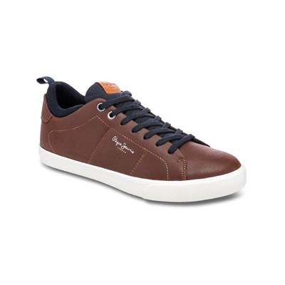 Pepe Jeans Footwear MARTON BASIC TENNIS MARRON Chaussure France_v10163