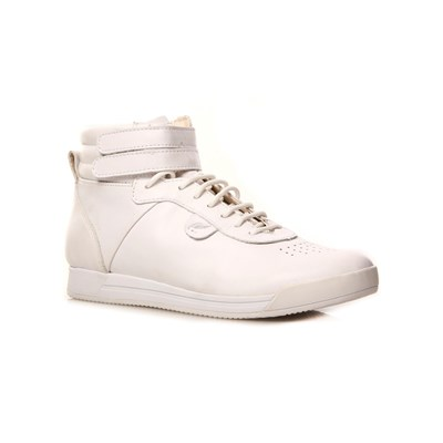Geox BASKETS MONTANTES EN CUIR BLANC Chaussure France_v6602